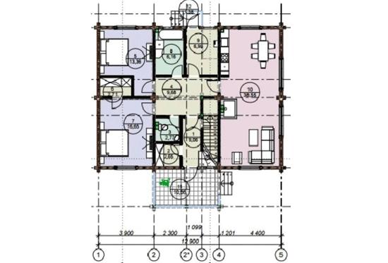 План N1 проекта дома из клееного бруса АСД-1690