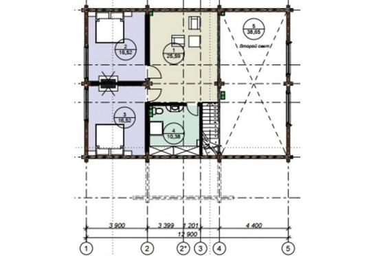 План N2 проекта дома из клееного бруса АСД-1690