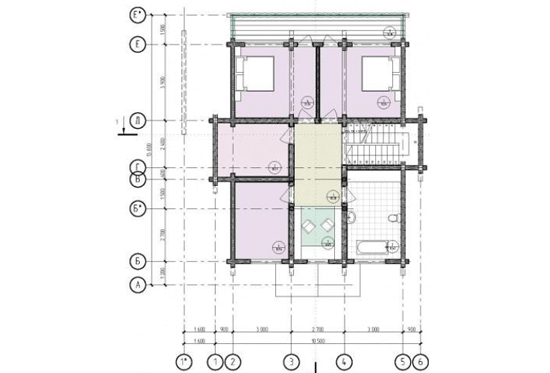 План N2 проекта дома из клееного бруса АСД-1692
