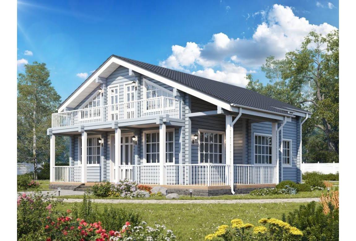Проект дома из клееного бруса Астра 230