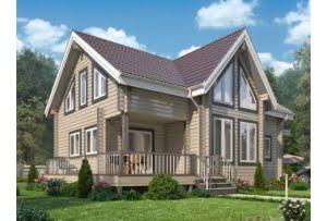 Проект дома из клееного бруса Грин 220