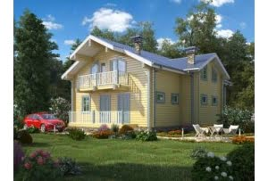 Проект дома из клееного бруса Грин 280