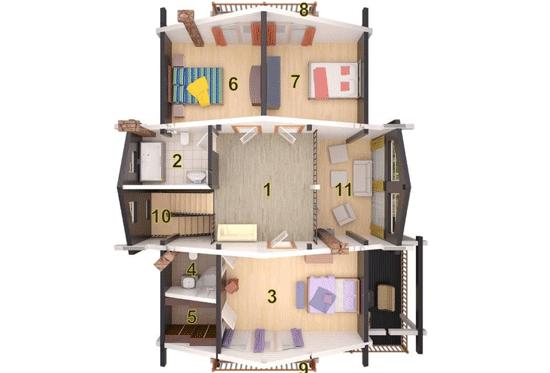 План N2 проекта дома из клееного бруса АСД-1697