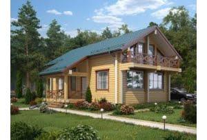 Деревянный дом из клееного бруса Женева 190