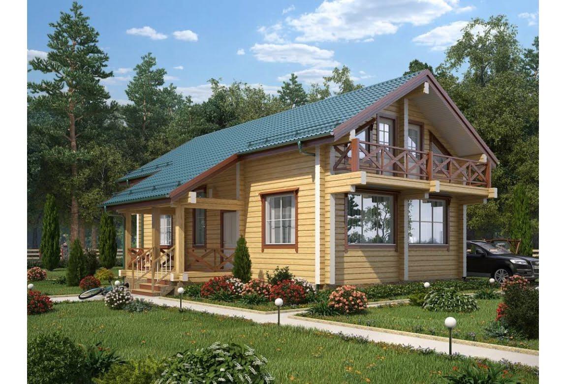 Проект дома из клееного бруса 190