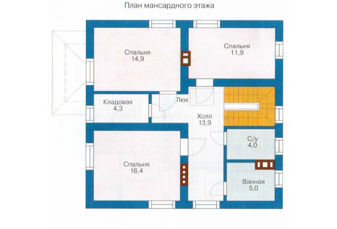 План N2 проекта кирпичного дома АСД-1007