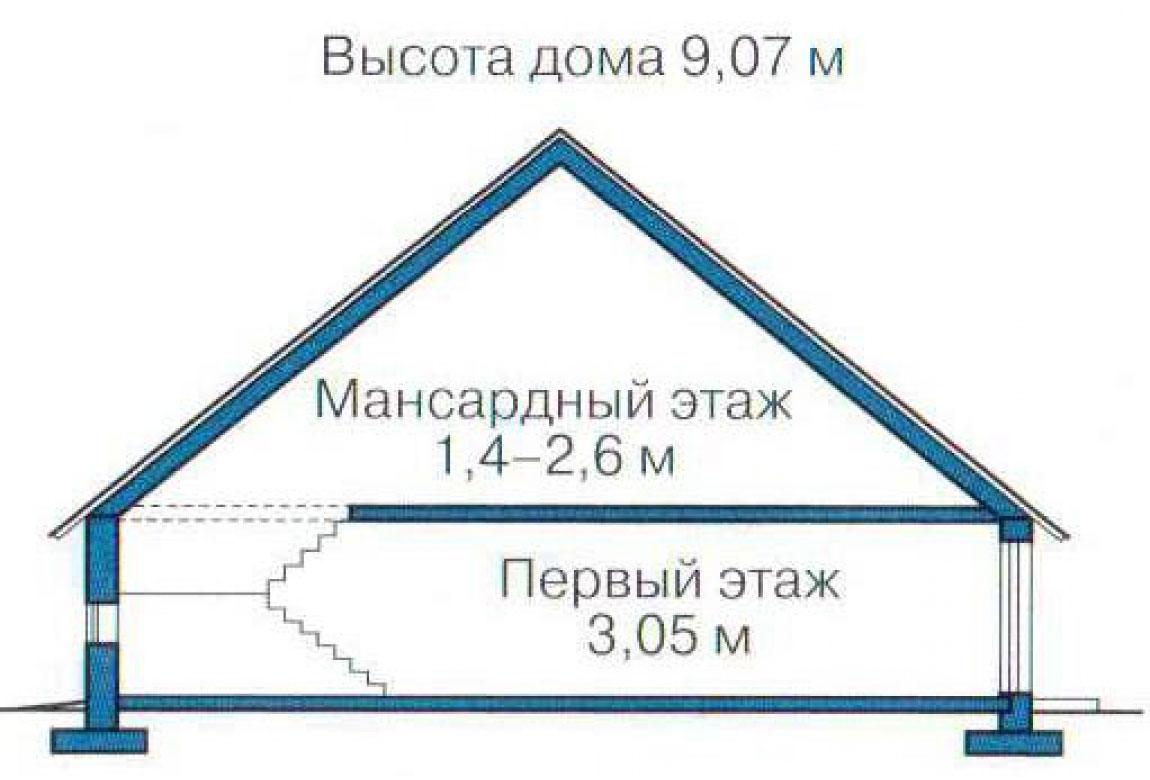 План N3 проекта кирпичного дома АСД-1007