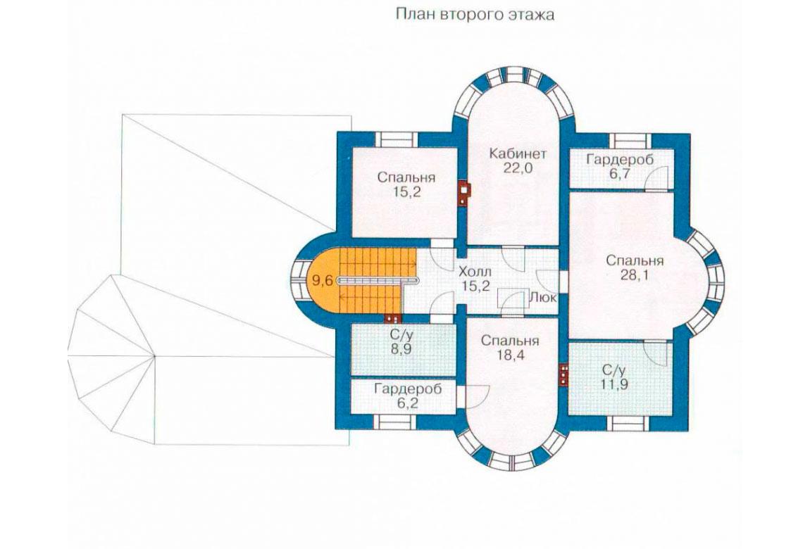 План N1 проекта кирпичного дома АСД-1070
