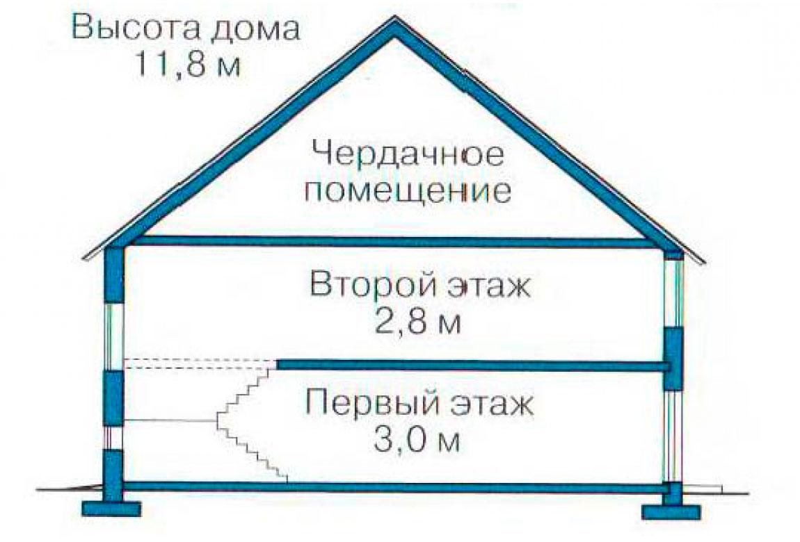 План N3 проекта кирпичного дома АСД-1070