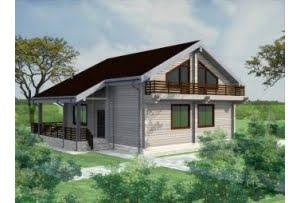 Проект дома из клееного бруса Лапландия 250