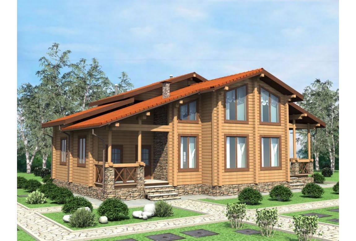 Проект дома из клееного бруса Оптимус 250