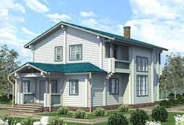 Дом из клееного бруса АСД-1707