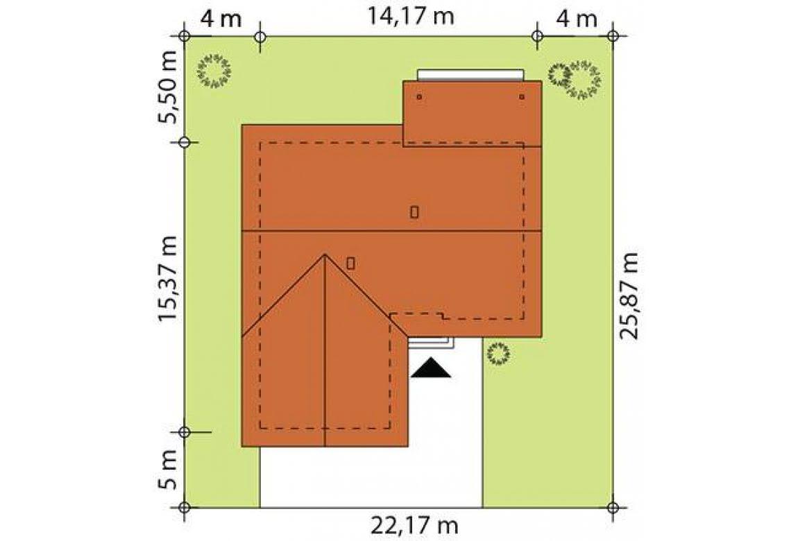 План N2 проекта каркасного дома АСД-Лантана