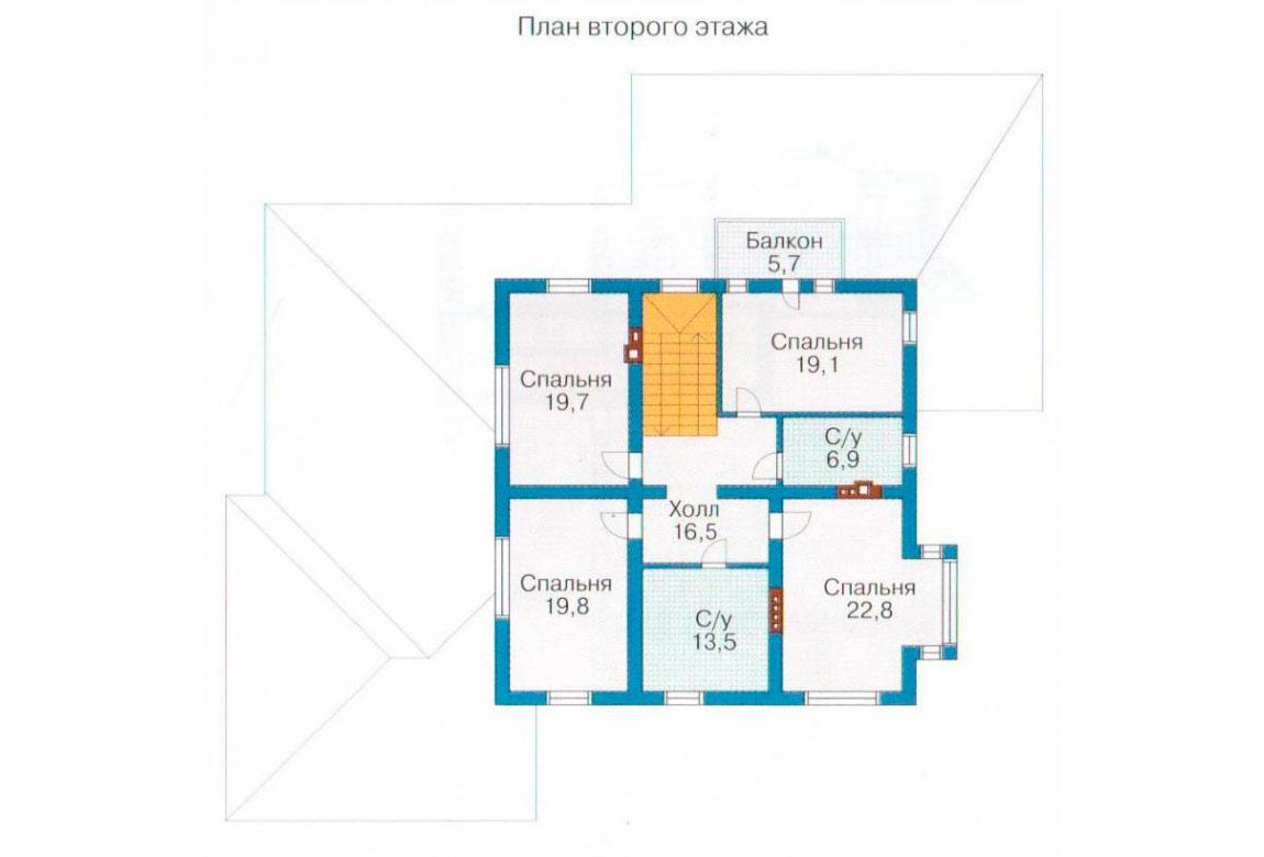 План N2 проекта кирпичного дома АСД-1071