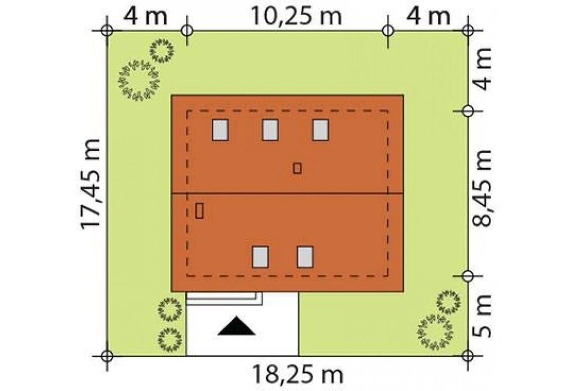 План N3 проекта каркасного дома АСД-1712