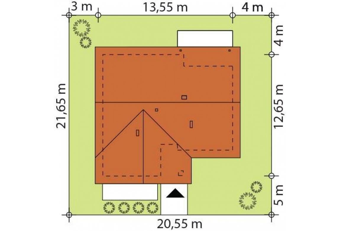 План N2 проекта каркасного дома АСД-Флоксы