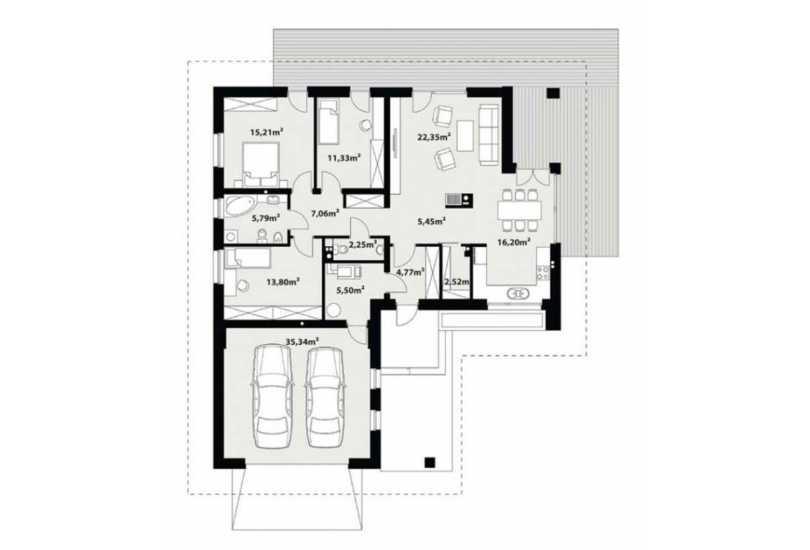 План N1 проекта каркасного дома АСД-Настурция