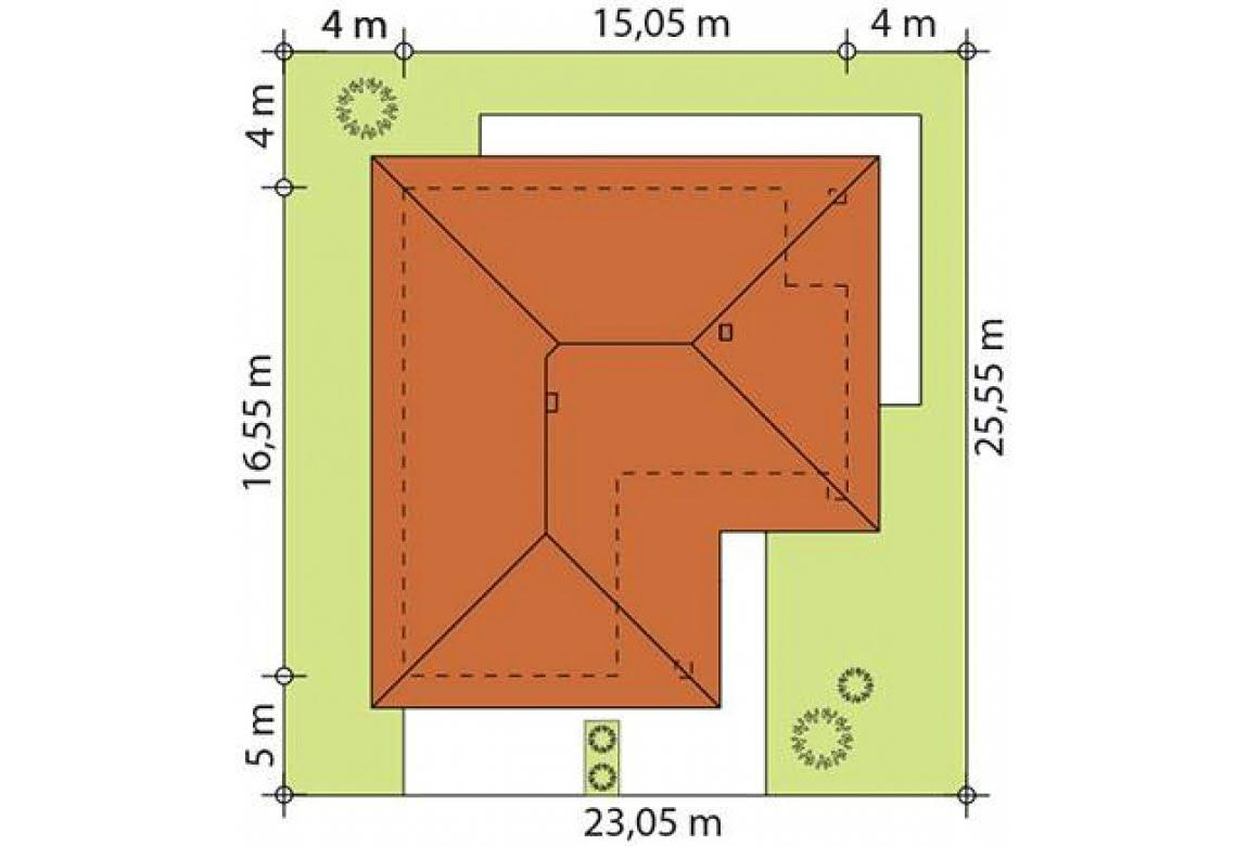 План N2 проекта каркасного дома АСД-Настурция