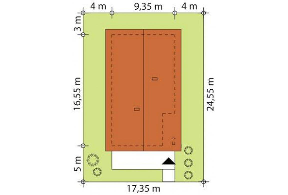 План N2 проекта каркасного дома АСД-Ива