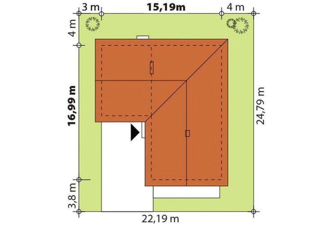 План N2 проекта каркасного дома АСД-Дипладения
