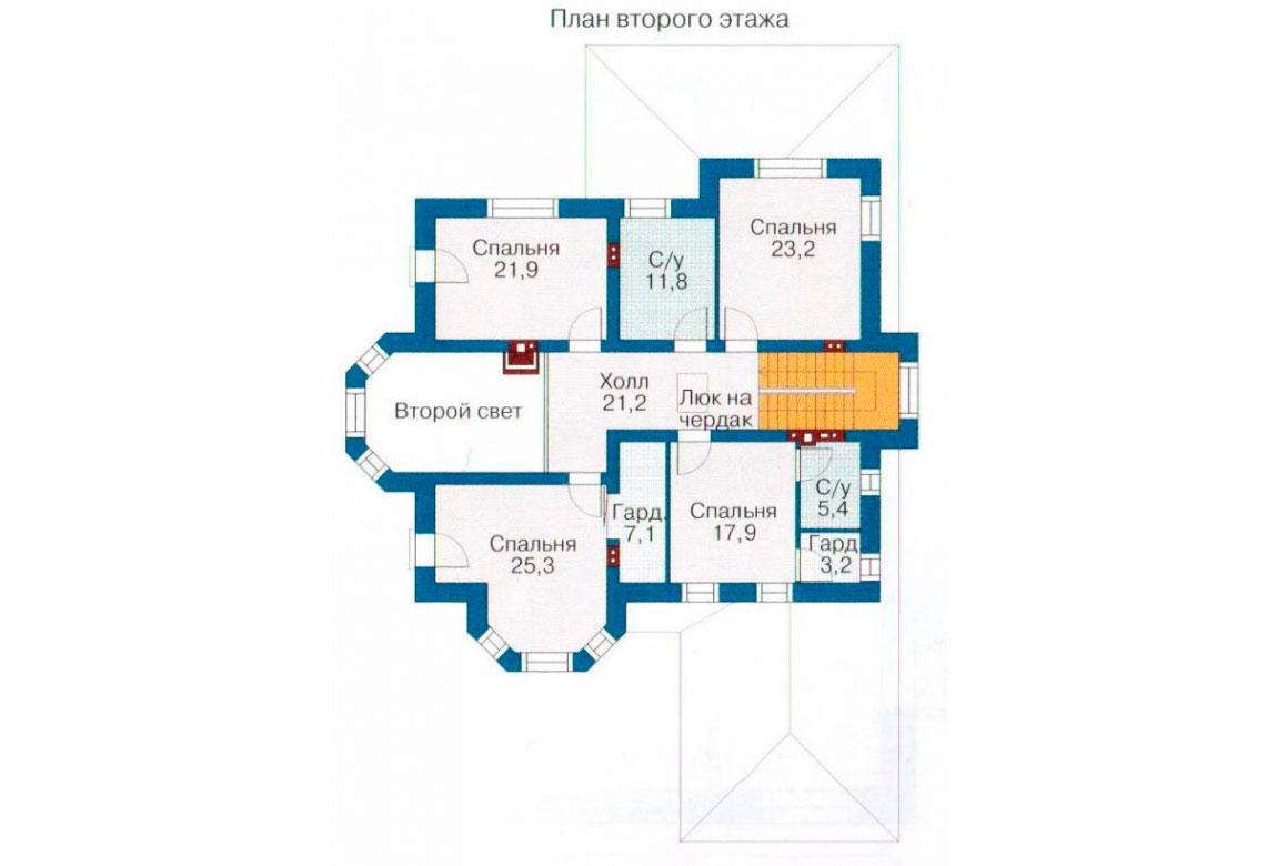 План N2 проекта кирпичного дома АСД-1072