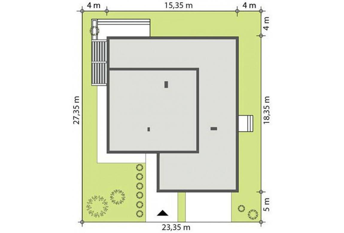План N2 проекта каркасного дома АСД-Калистегия