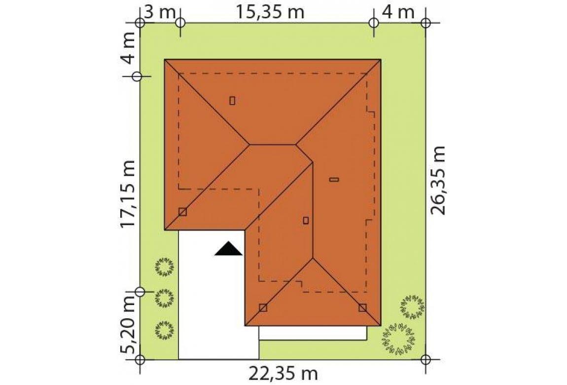 План N2 проекта каркасного дома АСД-Липпия