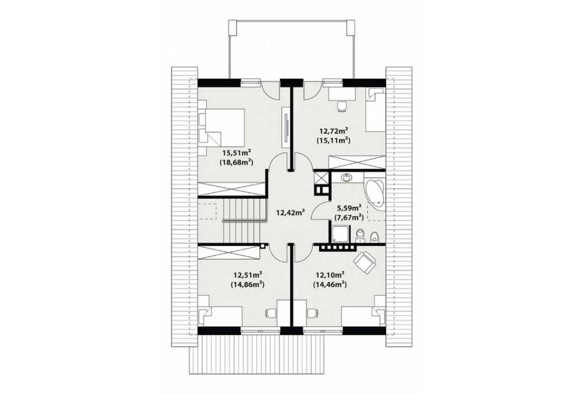 План N2 проекта каркасного дома АСД-Малина