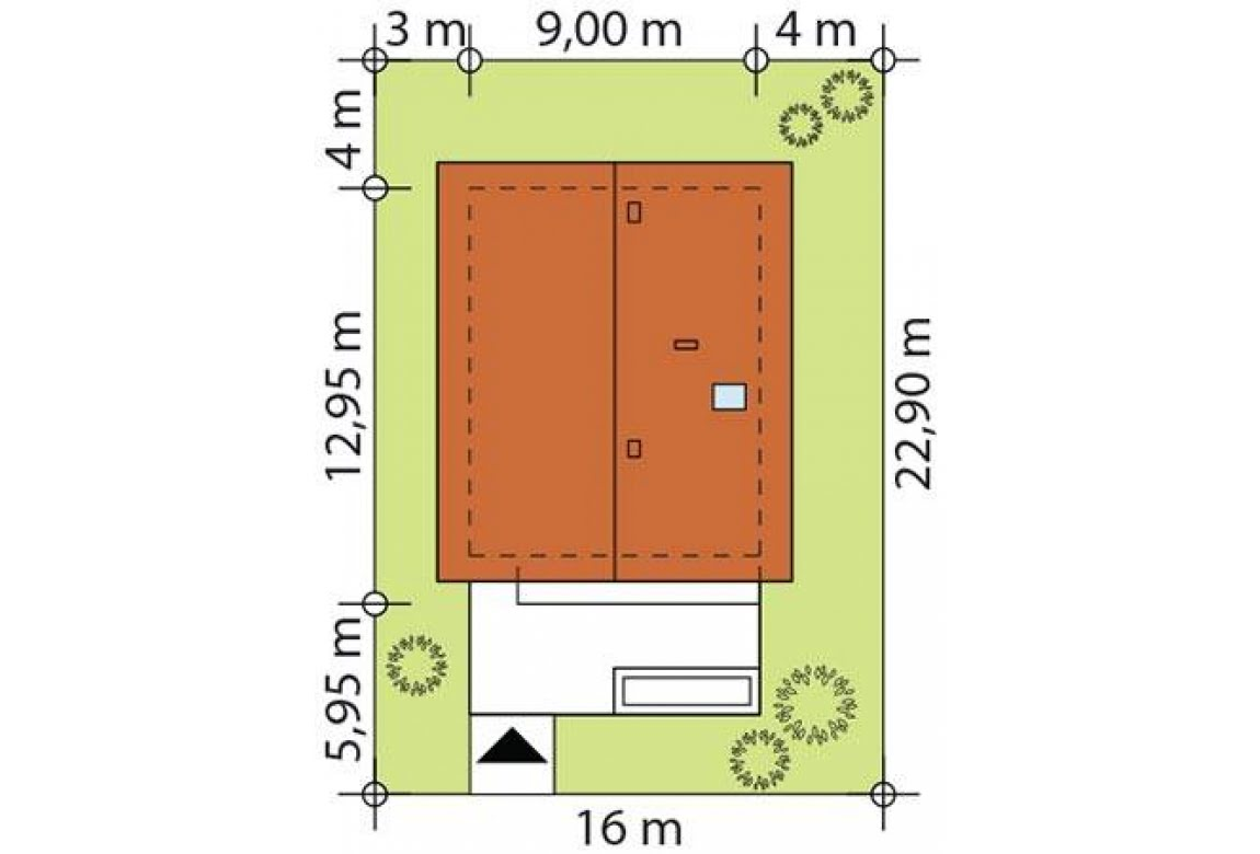 План N3 проекта каркасного дома АСД-Родиола