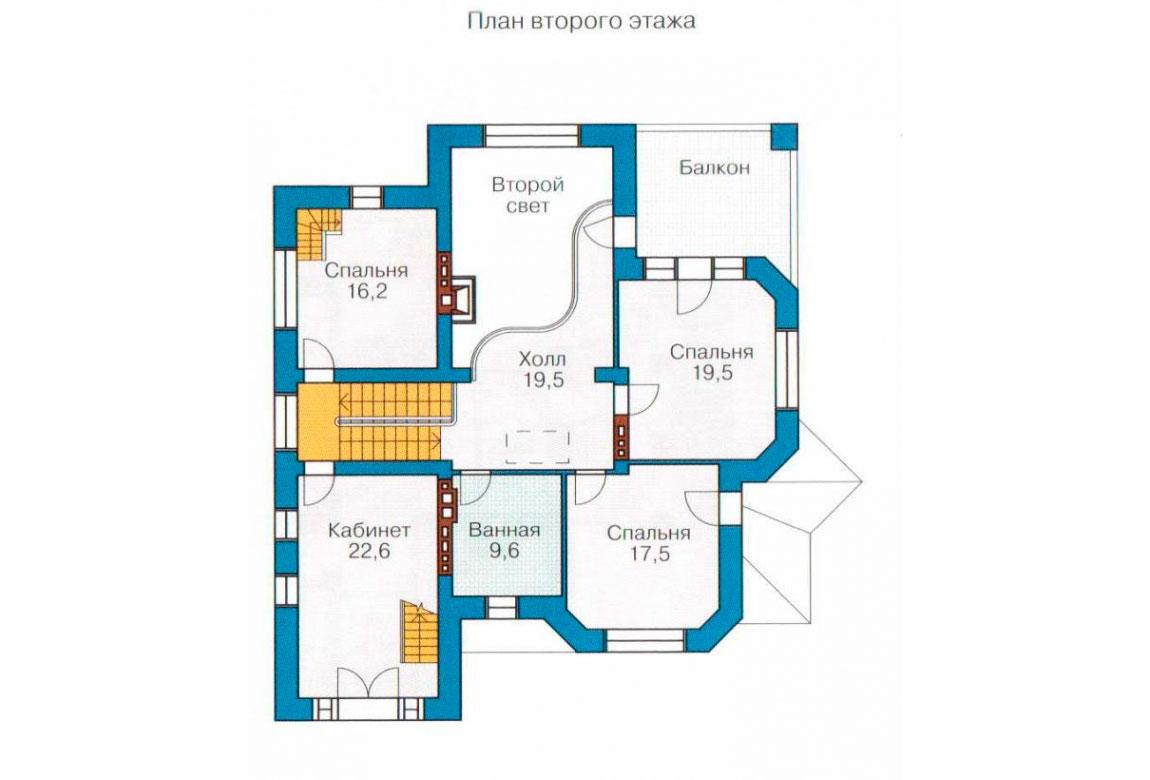 План N1 проекта кирпичного дома АСД-1073
