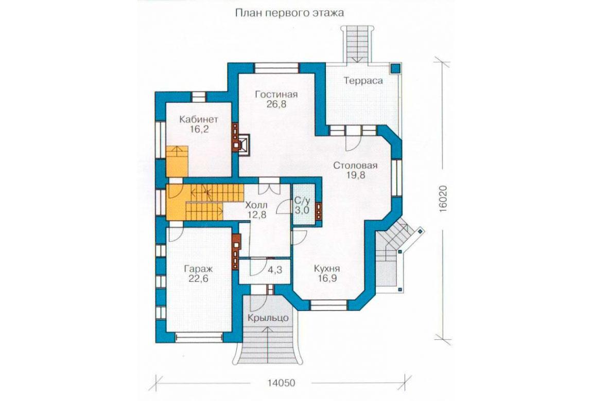 План N2 проекта кирпичного дома АСД-1073