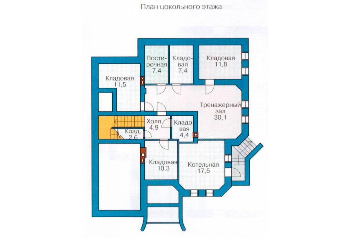 План N3 проекта кирпичного дома АСД-1073
