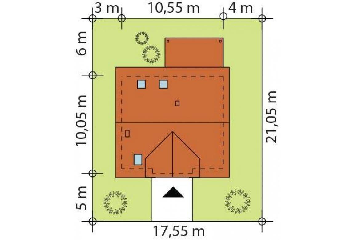 План N3 проекта каркасного дома АСД-1730