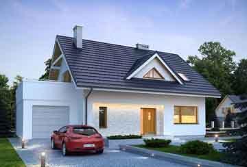 Каркасный дом АСД-1732