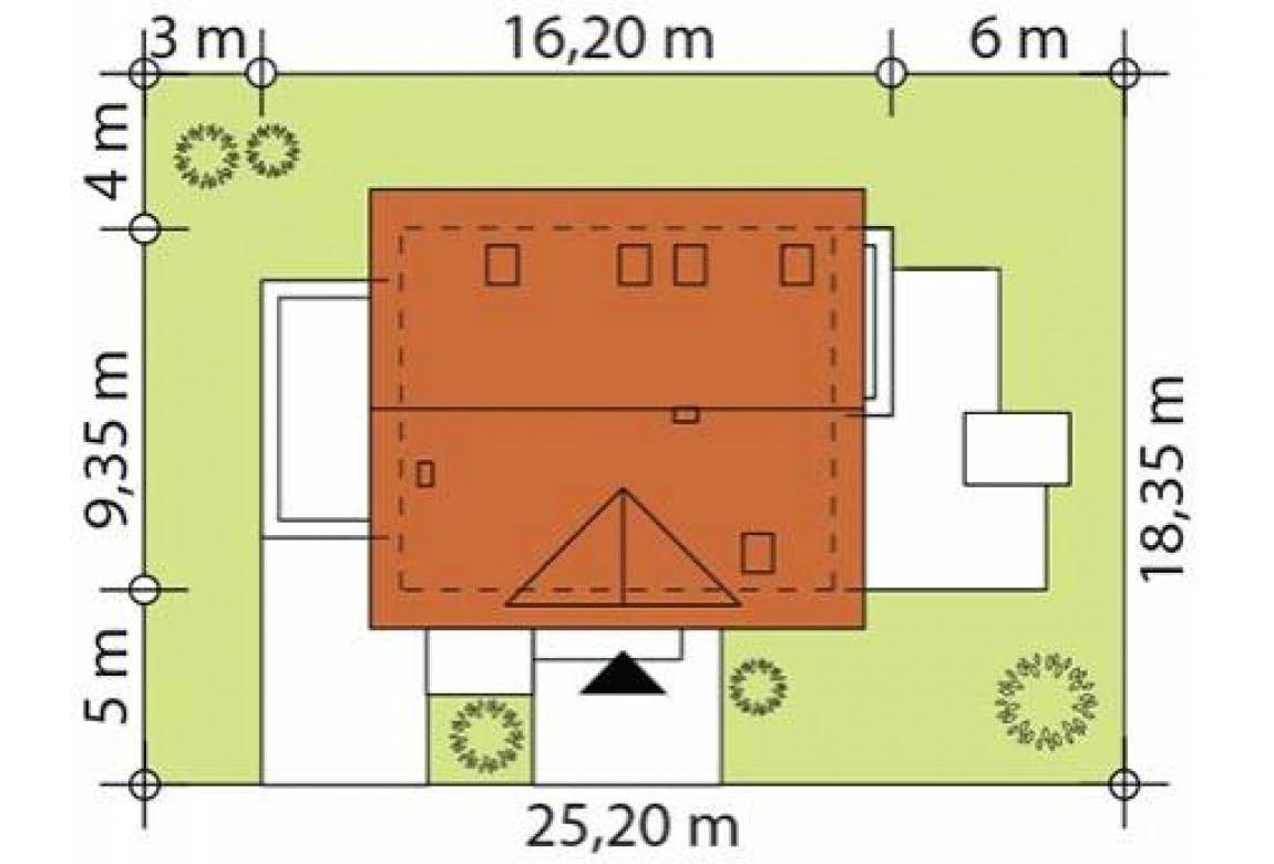 План N2 проекта каркасного дома АСД-1732