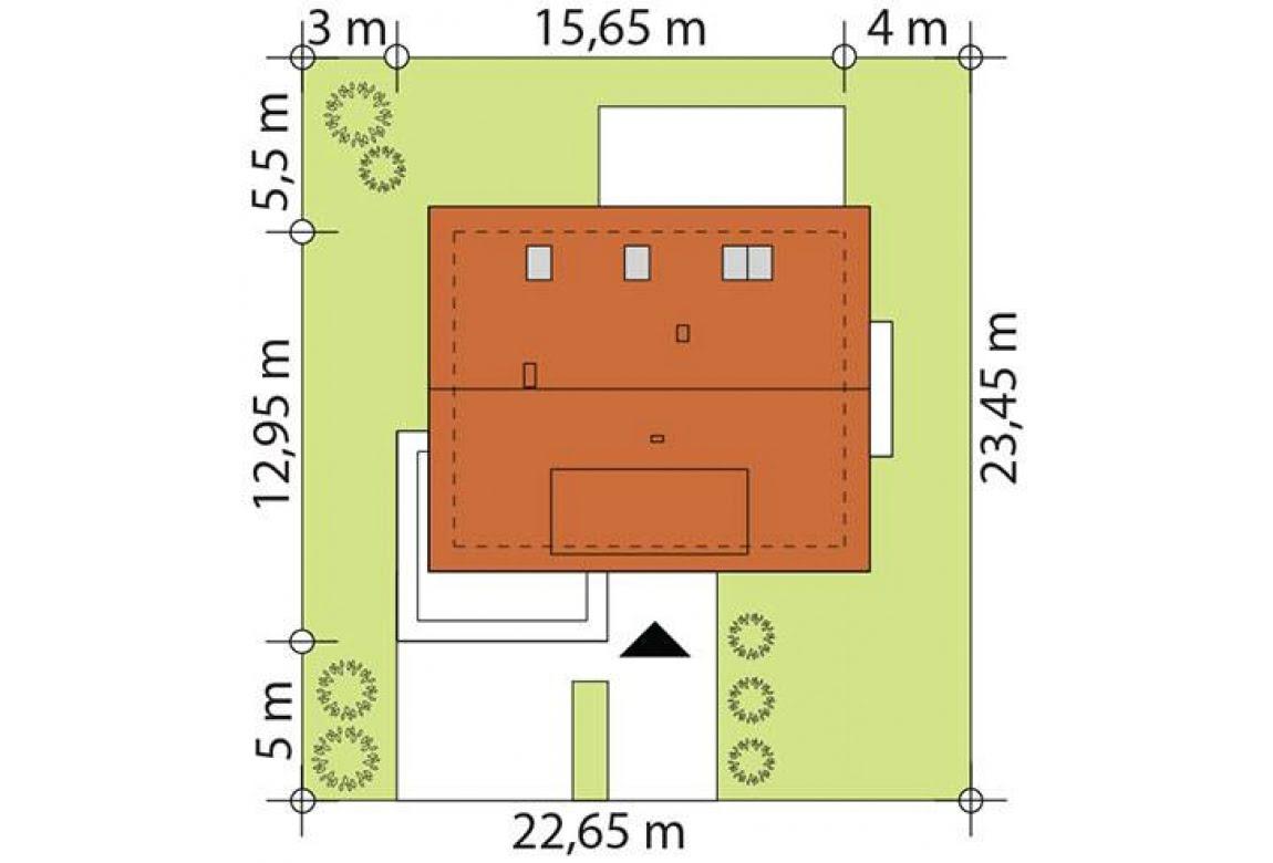 План N3 проекта каркасного дома АСД-Хризантема