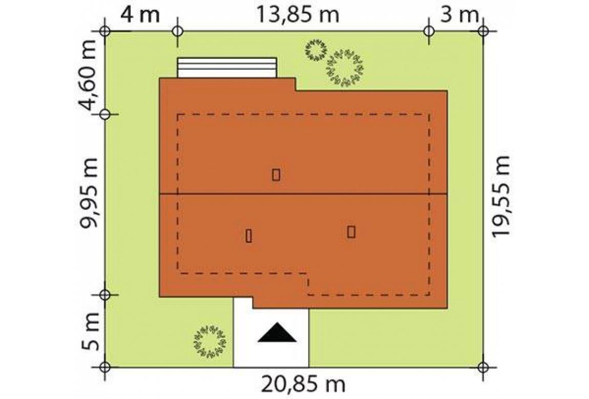 План N2 проекта каркасного дома АСД-Астильба 100