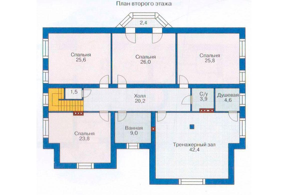 План N2 проекта кирпичного дома АСД-1074