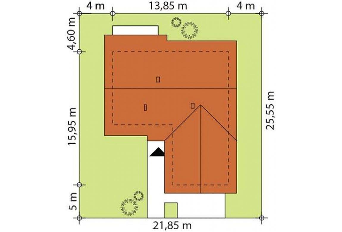 План N2 проекта каркасного дома АСД-1740