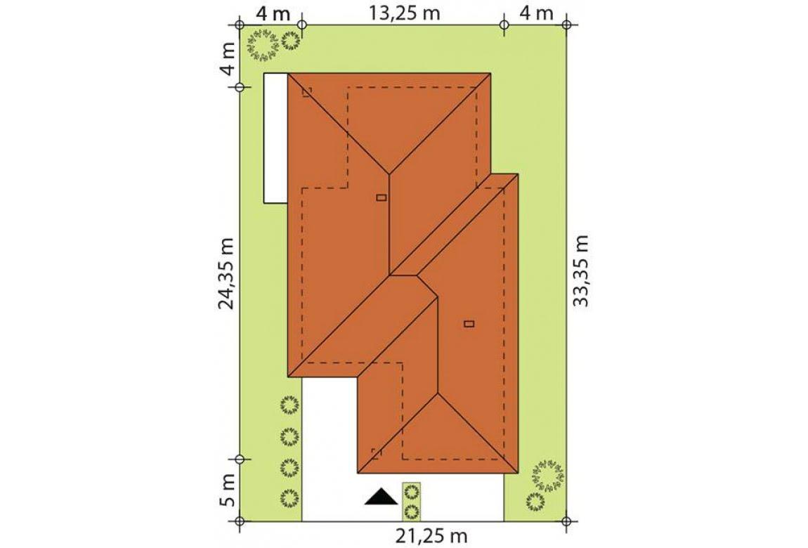План N2 проекта каркасного дома АСД-Астранция