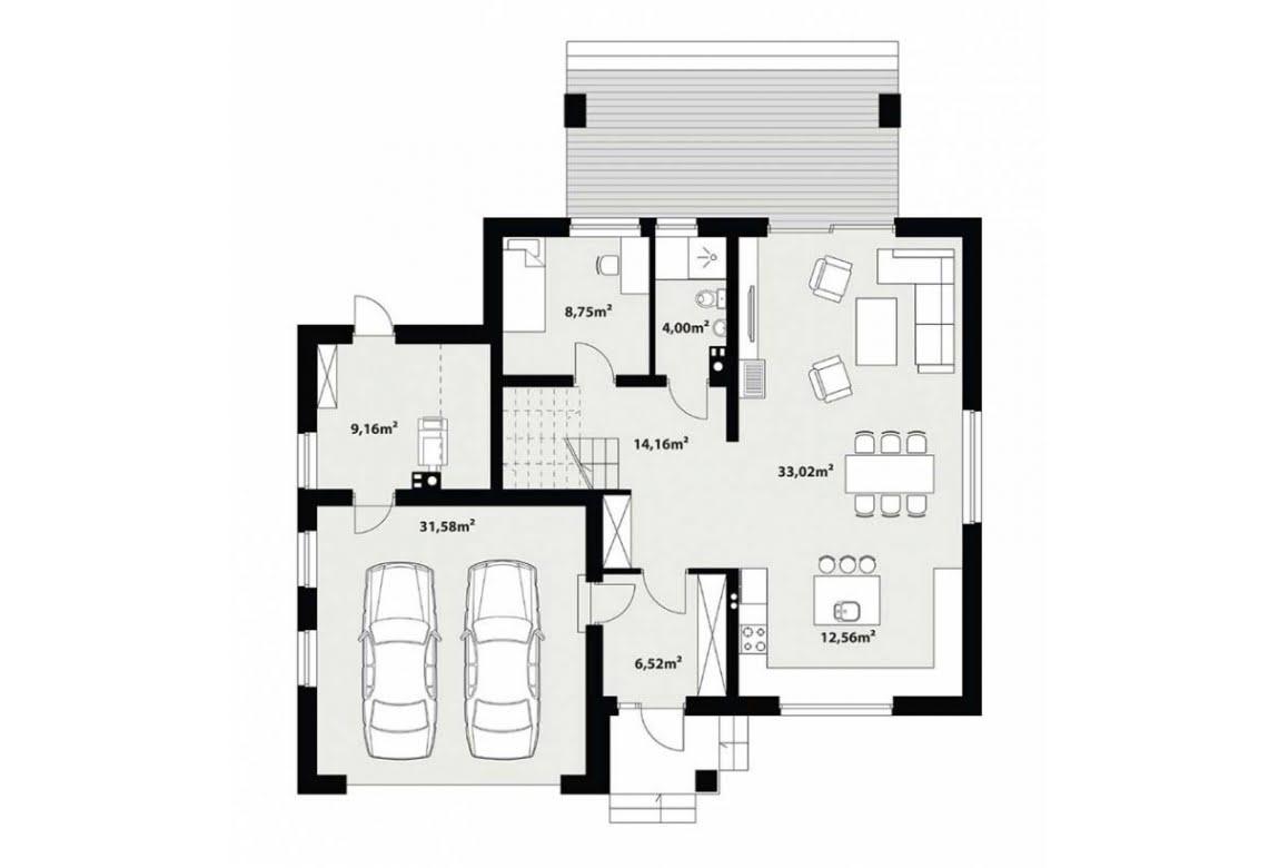 План N1 проекта каркасного дома АСД-Верба