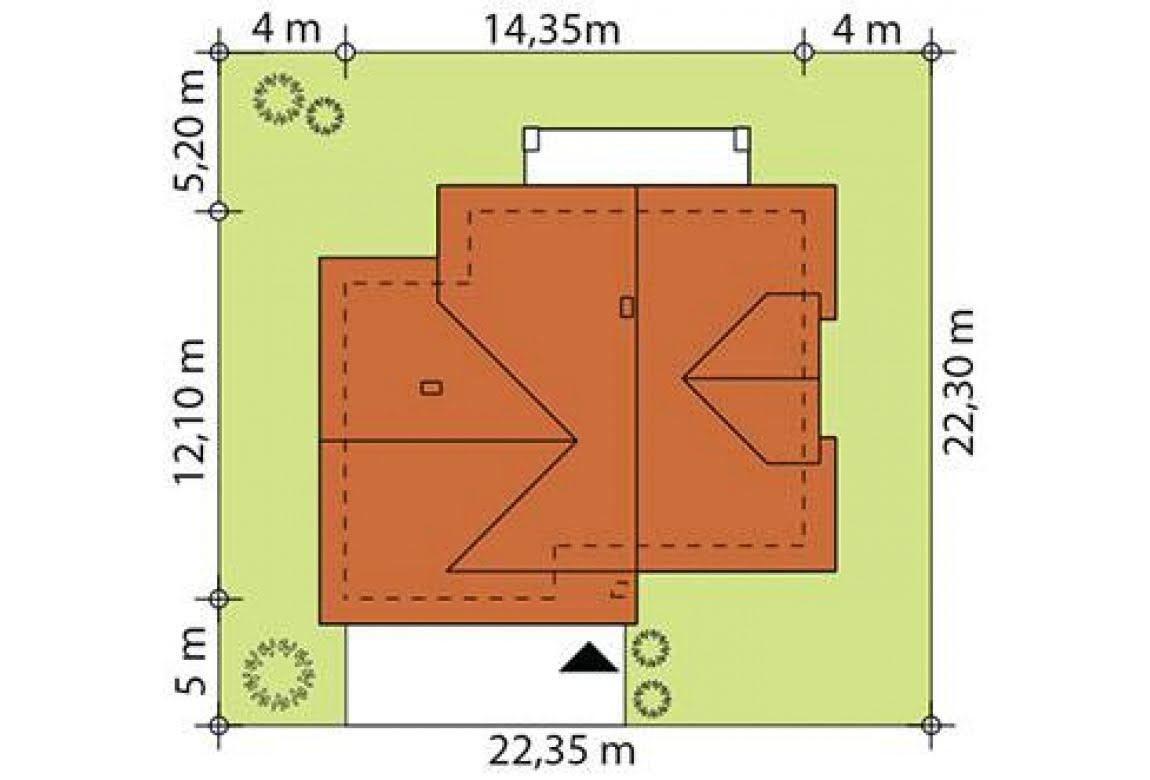 План N3 проекта каркасного дома АСД-Верба
