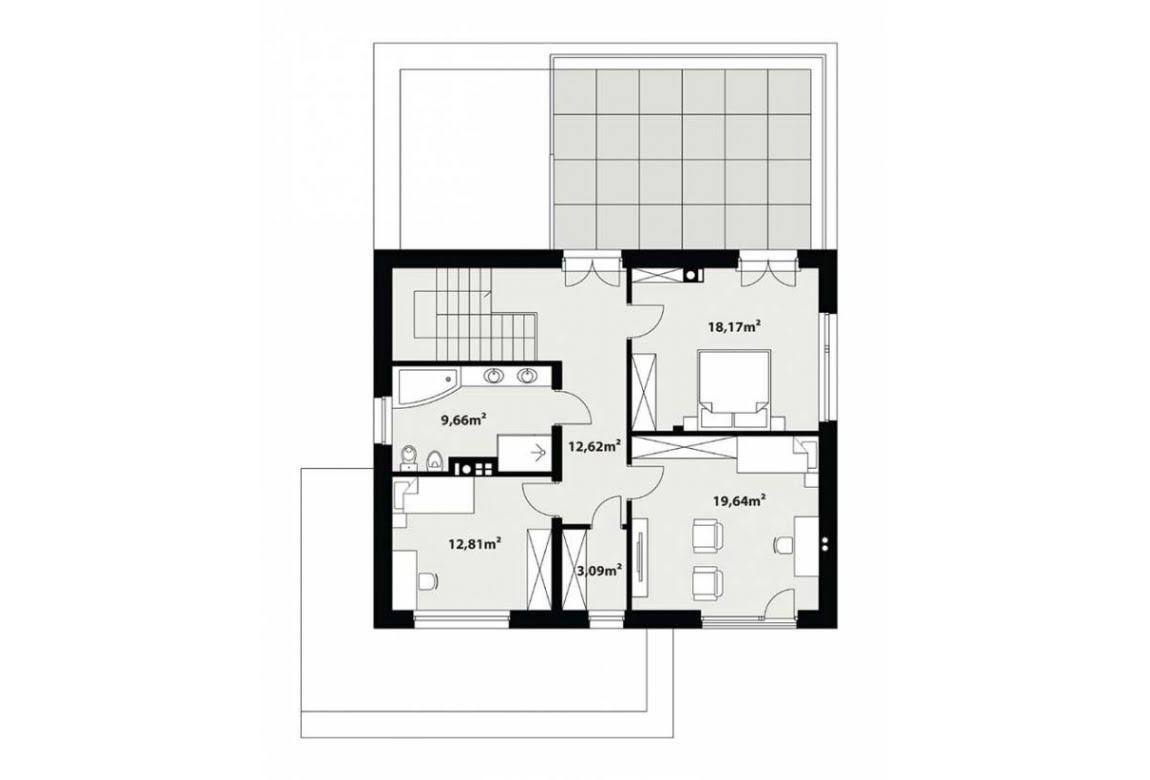 План N2 проекта каркасного дома АСД-Вероника