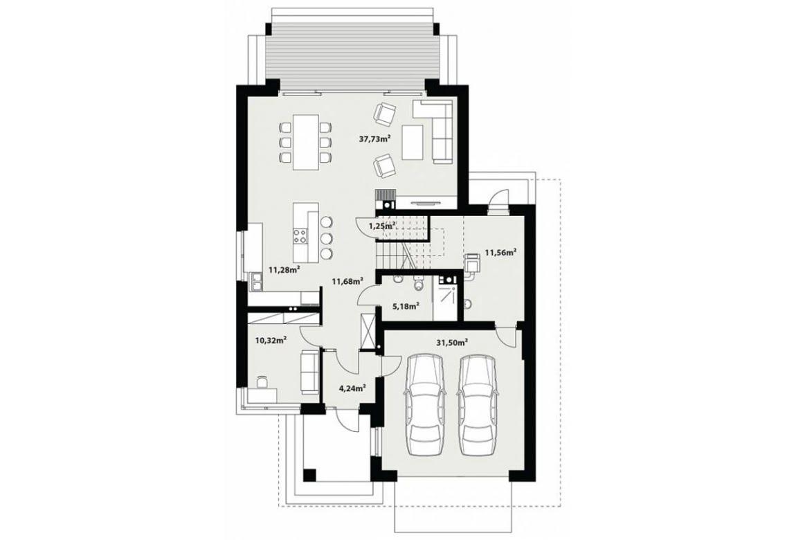 План N1 проекта каркасного дома АСД-Галакс