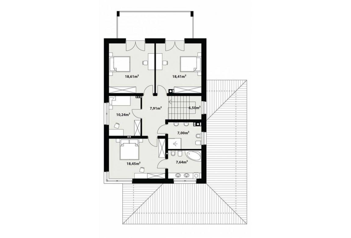 План N2 проекта каркасного дома АСД-Галакс