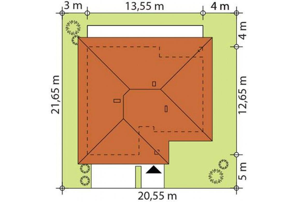 План N2 проекта каркасного дома АСД-Георгин