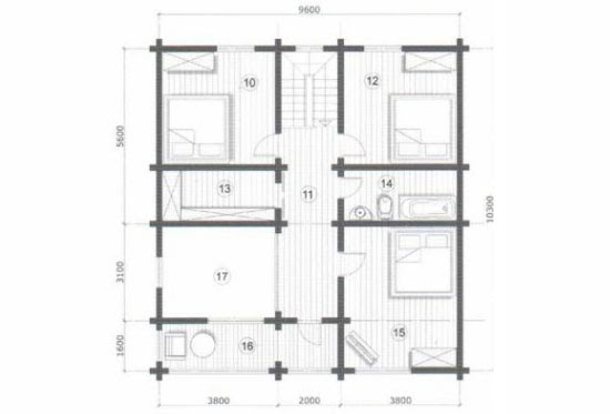 План N2 проекта дома из клееного бруса АСД-Новая Верона