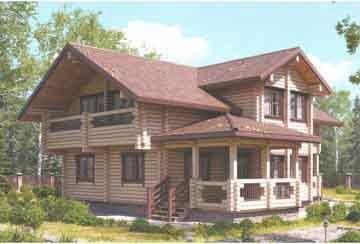 Дом из клееного бруса АСД-Эридан