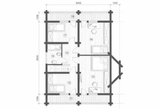 План N2 проекта дома из бревна АСД-Васницово