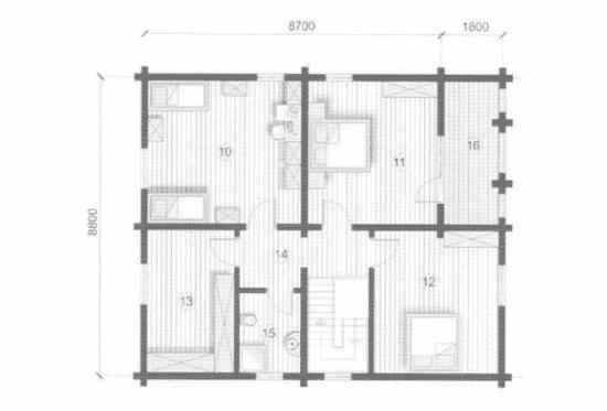План N2 проекта дома из бревна АСД-Гермес